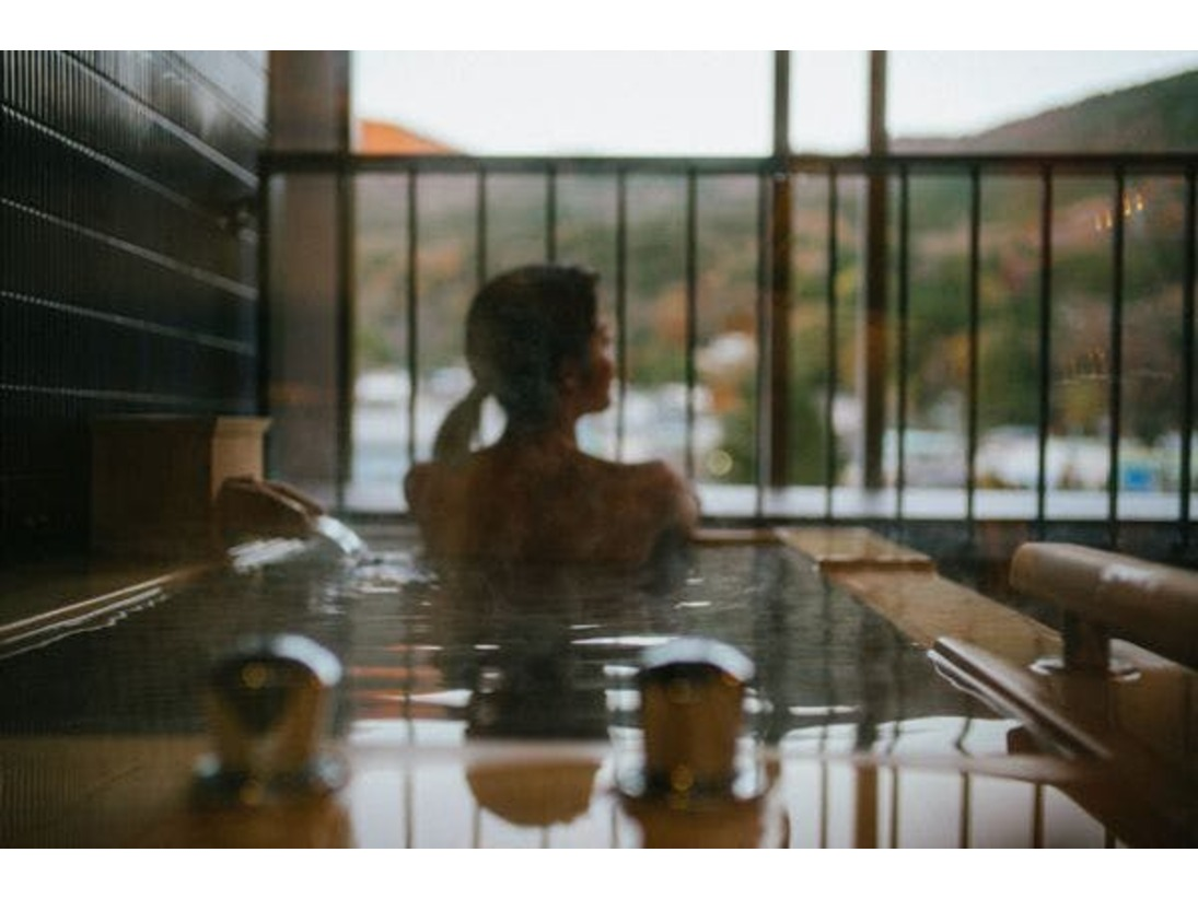 デラックスルームリバーサイド客室温泉