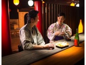 【ヨッテマレ酒場】おすすめ青森珍味でお酒もすすみお二人の会話も弾みます。