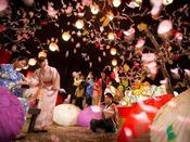 【ヨッテマレ花見まつり(春)】春のイベント「ヨッテマレ花見まつり」。青森屋でしか体験できないお花見をお楽しみください