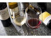 季節ごと一皿一皿に合わせたグラスワインのコース