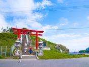 景勝地『蕪嶋神社』へは約122km。ウミネコの繁殖地として天然記念物。三万羽を越えます。