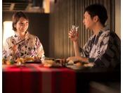 【のれそれ食堂】カップルやご夫婦で。地酒をお供にいかがででしょうか。