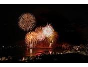 熱海海上花火大会の花火もご覧いただけます。