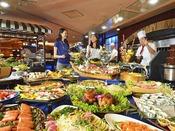 和食・洋食・中華、50種以上の食べ放題バイキング!オープンキッチン料理やデザートも充実!飲み放題付