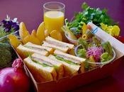 【お部屋で朝食プラン】~ホテル特製・シェフこだわりの和牛ローストビーフサンドBOX~こだわりのソースも絶品!ホテル自慢のローストビーフと彩り豊かなサラダで、少し贅沢な朝をお部屋でご堪能ください!