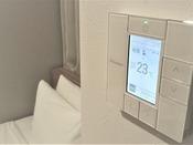 独立空調なので、個別にエアコンを操作可能