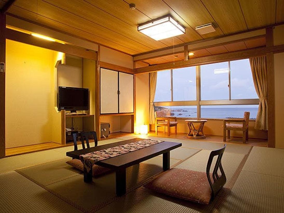 海側のお部屋からは太平洋を眺めることができます