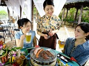 夏季限定!リゾート感溢れるオリエンタルビアガーデン☆炭焼きバーベキューや生ビールに合う単品メニューを豊富にご用意!