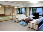 【和室ラージルーム(一例)】和室2部屋+リビング付♪ファミリーやグループのご旅行にオススメです!