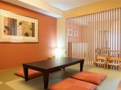 【スーペリア・和洋室】琉球畳の和室部分。