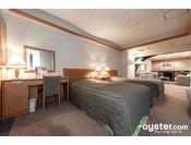 デラックスツイン80平米(寝室)