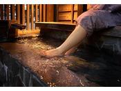 旅籠の足湯