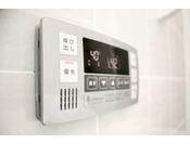 自動給湯システムボタンひとつで簡単にお湯はりや追いだきができる自動給湯システムを設置しております