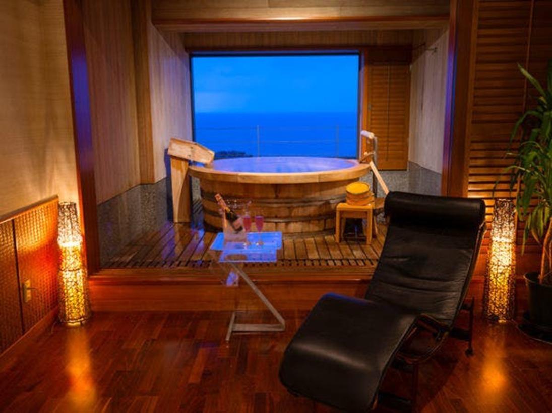 ■ハイプライベートスパ『漣-REN-』■日本海の絶景を独り占め♪【リビング付貸切風呂】