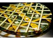 金沢の伝統工芸作家による本物のアートワークのしつらえ金澤スタイリッシュフロア ~ガラス工芸~