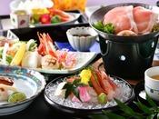 【夕食】春夏の会席料理イメージ「花菖蒲」