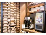 WELCOME DRINKコーナー スタッフ厳選コーヒー&ココア一杯100円 他無料