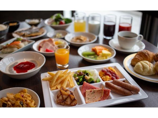 朝食和洋ブッフェのメニュー例