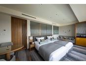 2020年3月リニューアルオープン!27階「ニッコーフロア(Nikko Floor)]デラックスハリウッドツイン/44平米・禁煙(イメージ)。ベッドタイプはハリウッドツインをご用意。ごゆっくりと優雅なホテルステイをお過ごしください。