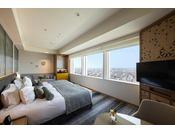 27階「ニッコーフロア(Nikko Floor)」デラックスハリウッドツイン/44平米・禁煙のお部屋(イメージ)。高層階ならではの眺望・夜景をお楽しみいただけます。