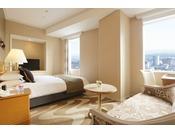 コンフォートクイーン・26平米。喫煙は20階、禁煙は21階~25階。クイーンルームは、1フロアにつき1室のみ