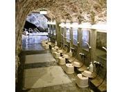 洞窟なかに洗い場を設けております。