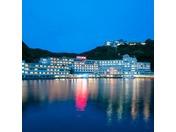 ホテル浦島の外観(夜)