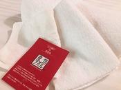 【地元大阪の泉州タオル】新館ネストには厚手でやわらかな、地元大阪の泉州タオルをご用意しています。