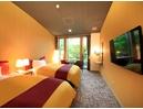 【洋室ツイン】寝心地にこだわったシモンズ社製のベッドを設置しております