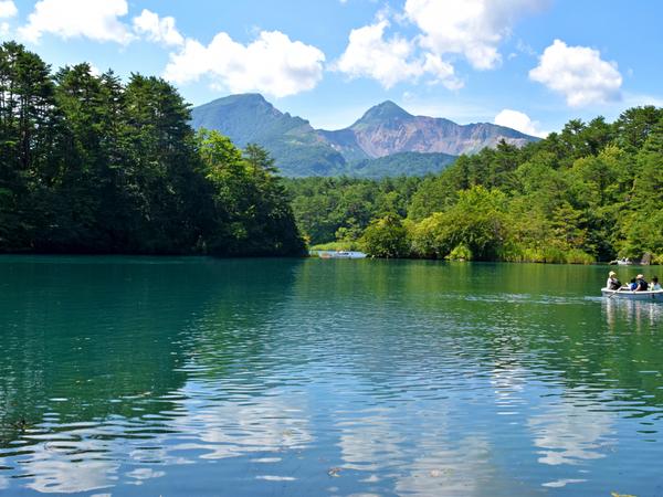 自然美しい五色沼