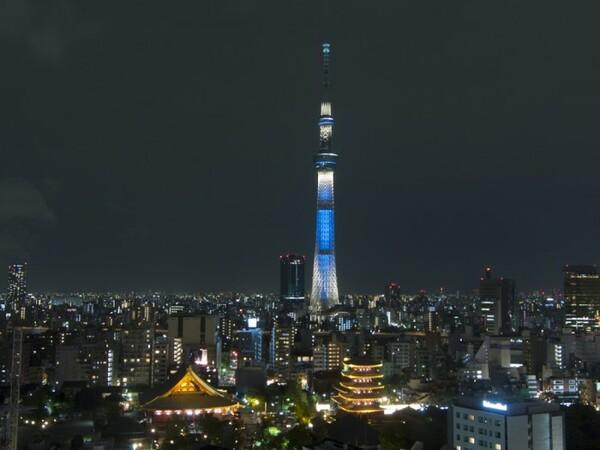 東京スカイツリーライトアップ一例
