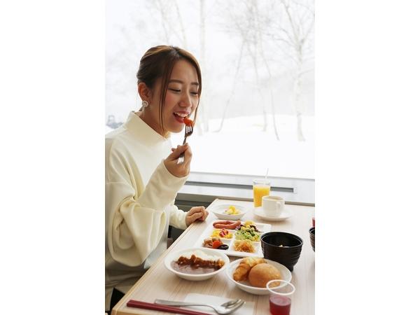 お好みメニューを食べ放題のご朝食