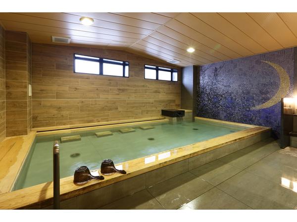 「人工温泉光明石」大浴場完備