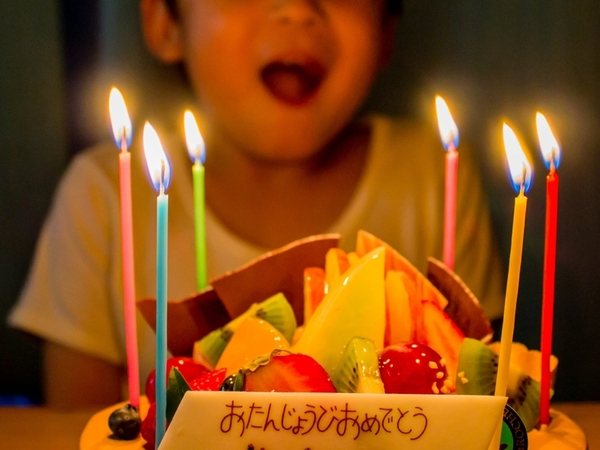 ホールケーキをプレゼント!