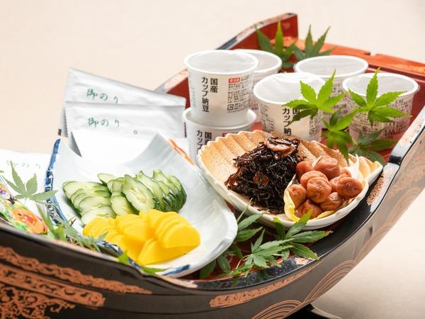 地元食材を使った和朝食。