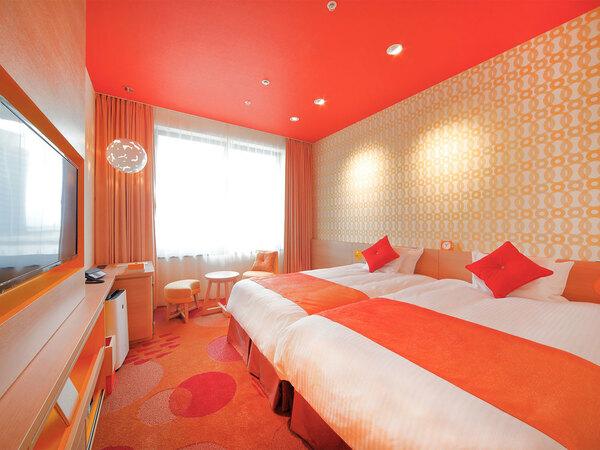 お部屋のデザインには「サニー」と「プリズム」のタイプをご用意(写真はスタンダードツインのサニー)