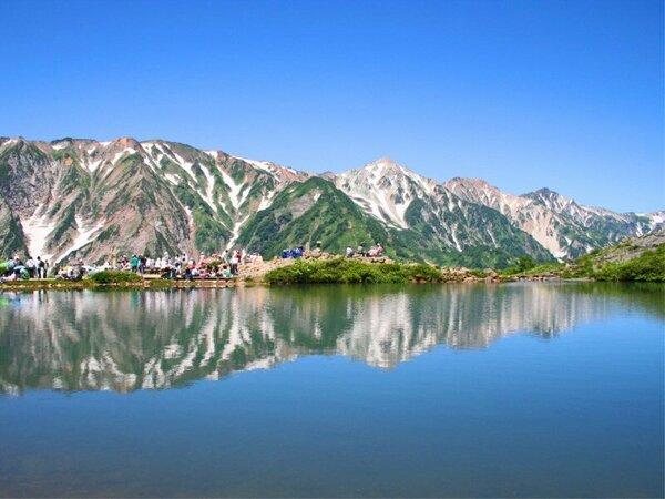 ここからの景色が美しすぎる!と評判の八方池。いつ行ってもいい。間違いない