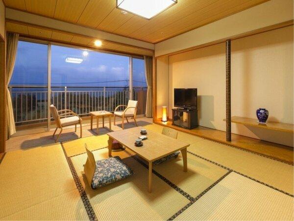 【和室】8畳 錦江湾と桜島を望みながら