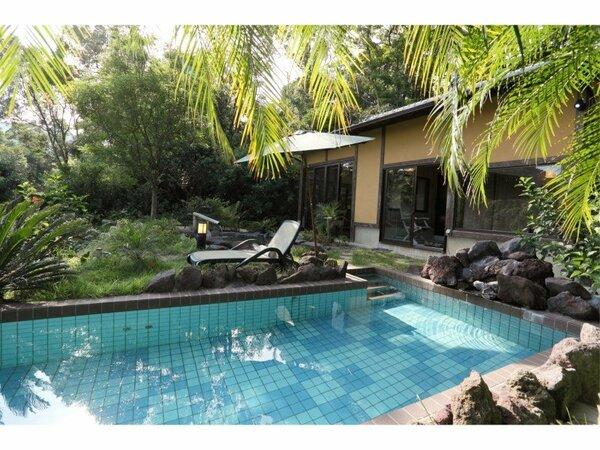 ◆ 温泉水プール&露天風呂付き洋室 ◆ プライベートプール♪
