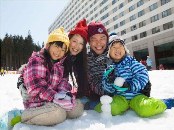 【スノーウッドスキー場】ホテル目の前☆家族みんなで遊んじゃおう♪