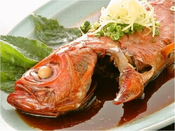 【夕食一例】稲取名物金目鯛の煮付け