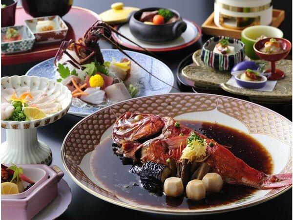 料理の一例(イメージ)※金目鯛の姿煮の大きさ及び台数は人数により異なります。