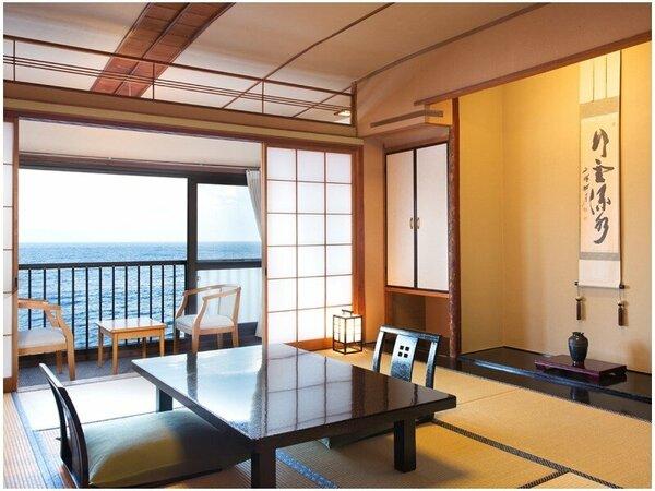 【10畳一間】全室オーシャンビュー。海から昇る朝日で心地よい目覚めを。