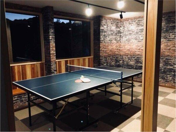 2017.11にリニューアルしたプレイルーム♪温泉卓球を存分にお楽しみください(無料)