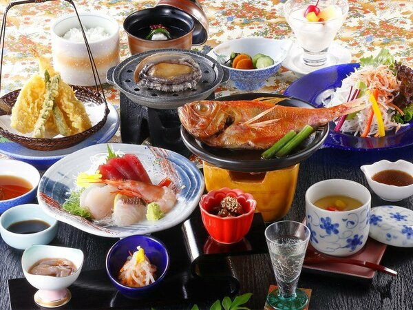小金目鯛とあわび付きのご夕食(イメージ)