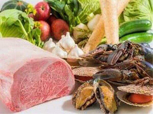 鉄板焼き/厳選された県産食材を使用しております