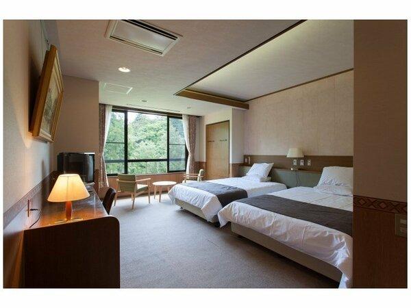 洋室(イメージ) 大きなサイズのベッドを揃えた、モダンなお部屋です