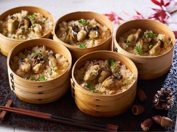 牡蠣甘露煮と生姜風味の牡蠣めし