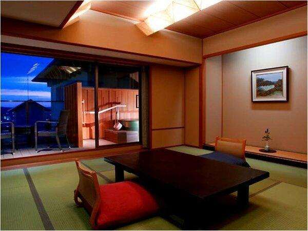 ■白雲南館(展望温泉露天風呂付客室) 和室