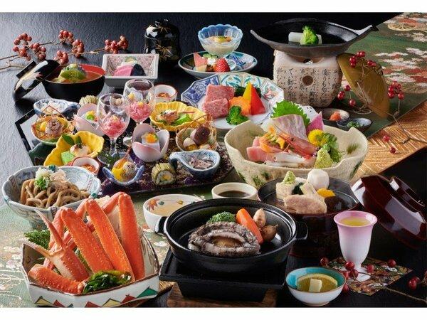 特選料理「天祥膳」(2020年秋冬/イメージ)※前菜は2人前で盛付けしています